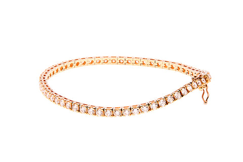 18ct Diamond Tennis Bracelet In Yellow Gold With Diamonds 3.71 carats