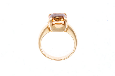 18ct Ring In Yellow Gold With Imperial Topaz 5.13 carats