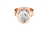 18ct Ring In Rose Gold With Green Rutilated Quartz 6.03ct