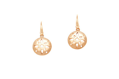 9ct Rose Gold Round Cutout Earrings