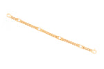 18ct Bracelet In Yellow Gold With Diamonds