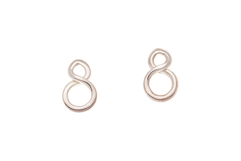 Silver earrings - infinity stud