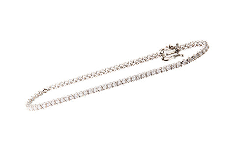18ct Bracelet In White Gold With 2.18 ct Diamonds Tennis Bracelet