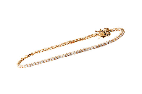 18ct Bracelet In Yellow Gold With 2.02 ct Diamonds - Tennis Bracelet