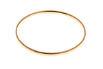 9ct Yellow Gold 4mm Round Solid Bangle