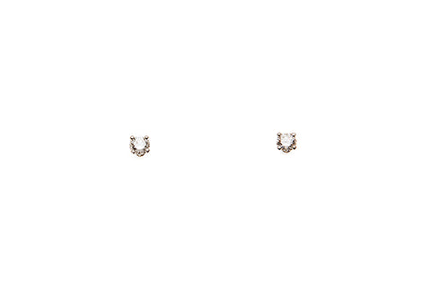 18ct Earrings In White Gold With 0.28ct Diamond Studs