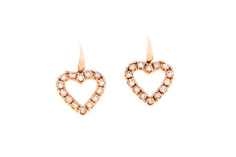 18ct Earrings In Rose Gold With Argyle Cognac Diamonds