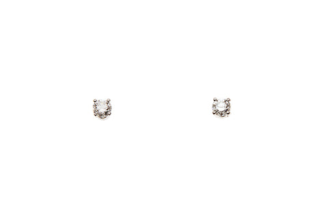 18ct Earrings In White Gold With 0.60 ct Diamond Studs
