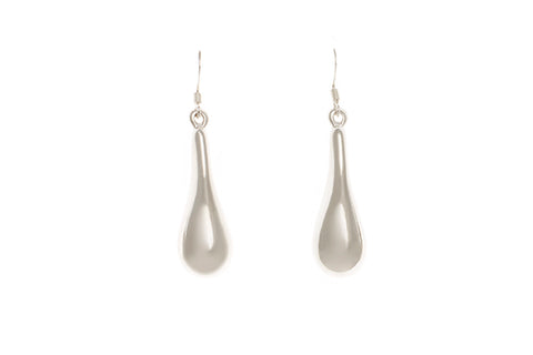 Silver Earrings With Large Pear Drops