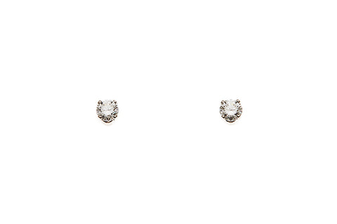18ct Earrings In White Gold With 0.80 ct Diamond Studs