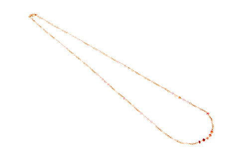 9ct Necklace In Yellow Gold With Multi Coloured African Spinels and Pearls