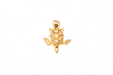 18ct Pendant with Yellow Gold Turtle