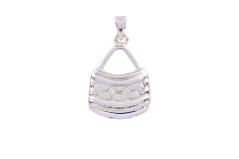 Silver Pendant With Geometric Design Bilum