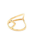 PASTICHE Castaway Ring In Yellow Gold Plated Steel