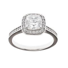 Sybella Ring With Sterling Silver & Square Cubic Zirconia