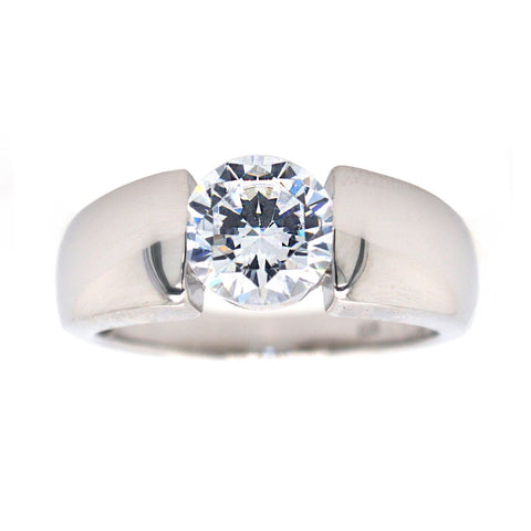 SYBELLA CUBIC ZIRCONIA RHODIUM PLATED DRESS RING