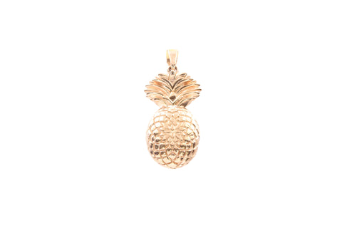 9ct Pendant In Rose Gold With Pineapple