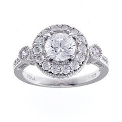 SYBELLA SILVER CUBIC ZIRCONIA ROUND DRESS RING
