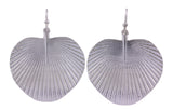 Silver Earrings With Fan Palms on Shepherds Hooks