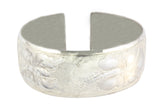 Silver Bangle Cuff With PNG Insipired Motive