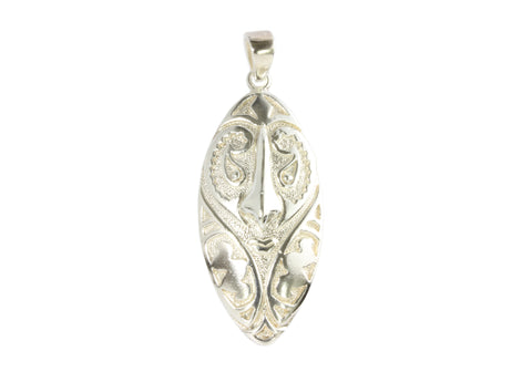Silver Pendant With Sepik River Mask