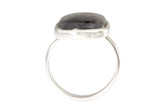 Silver Ring With Rectangle Rutilated Quartz