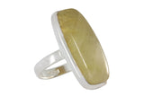 Silver Ring With Yellow Rhutilated Quartz