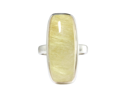 Silver Ring With Rhutilated Quartz