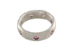 18ct Ring In White Gold With Heart Shaped Pink Sapphires