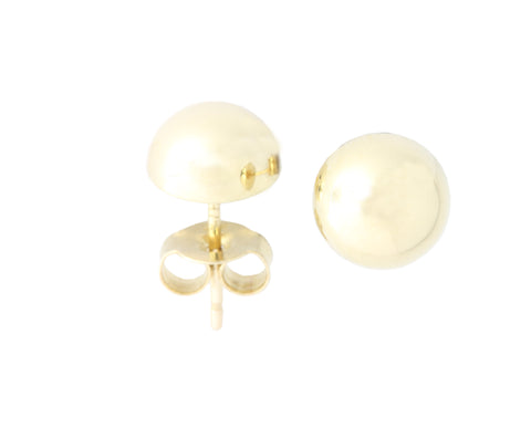 9ct Earrings In Yellow Gold Domed Stud