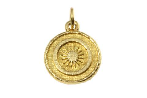 18ct Pendant Yellow Gold with Starburst Goroka or Buka Basket