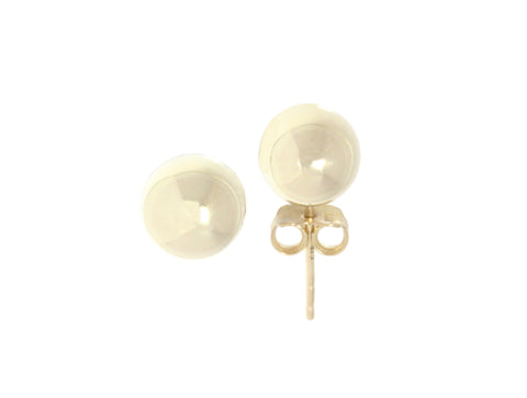 9ct Earrings In Yellow Gold With Polished 8mm Ball Studs