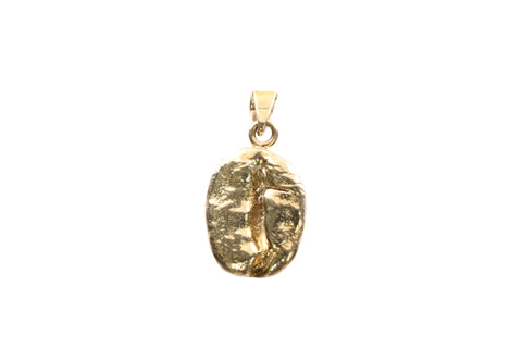 9ct pendant in yellow gold with coffee bean.