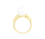 18ct Ring In Yellow Gold With Luminous White South Sea Pearl
