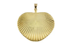 18ct Pendant In Yellow Gold With Palm Fan Leaf