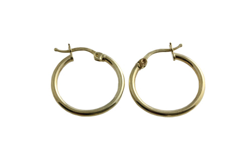 9ct Hoop Earrings In Yellow Gold