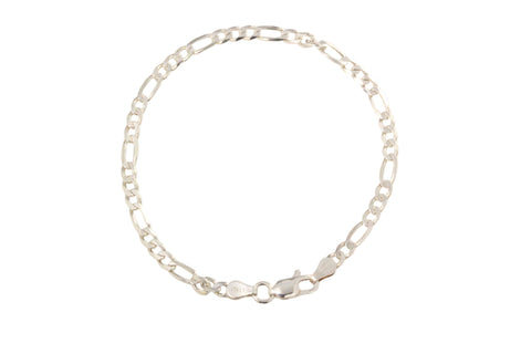 Silver Bracelet with Figaro Link