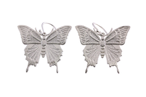 Silver Ulysses Butterfly Earrings