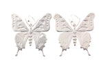 Silver Earrings With Large Ulysses Butterfly