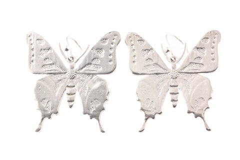 Silver Earrings With Ulysses Butterfly