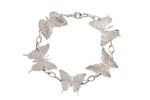 Silver Tropical Bracelet With 5 Butterflies