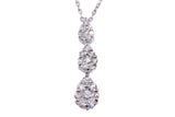 18ct Necklace In White Gold With Pave Diamonds