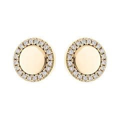 SYBELLA Yellow Gold Plated Cubic Zirconia Stud Earrings
