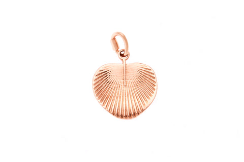 9ct Pendant In Rose Gold With Fan Palm Leaf