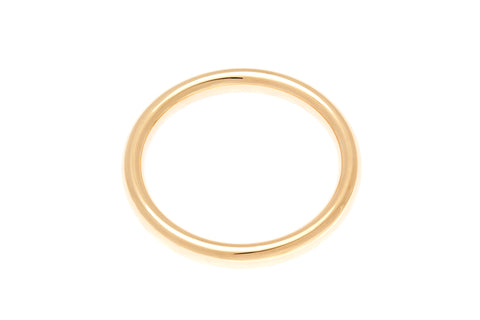 9ct Yellow Gold 9mm Round Tube Golf Bangle