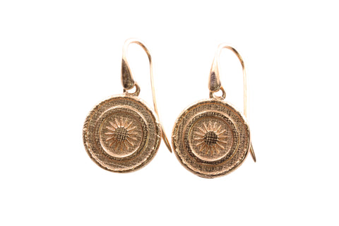 9ct Earrings In Rose Gold With PNG Goroka Basket Design
