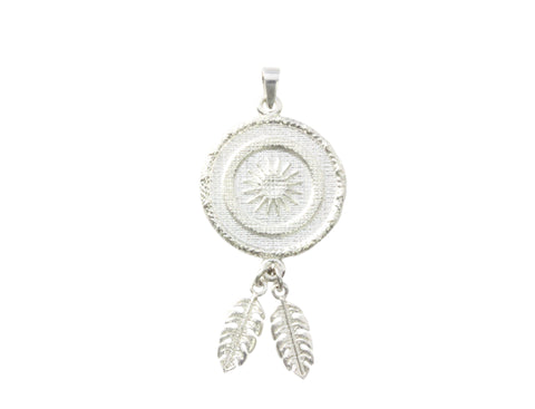 Silver Star Woven Pendant With Tassel