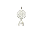 Silver Pendant 8 Star Goroka Basket With Two Fern Leaves PNG Design