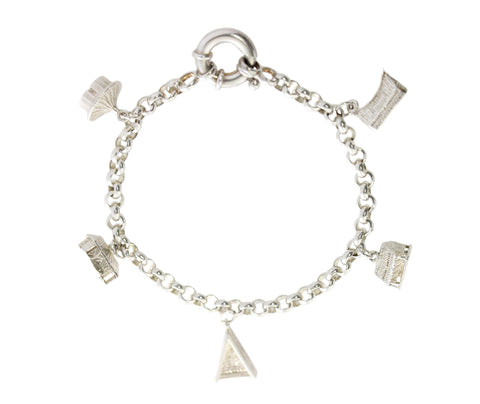 Silver Tropical Hut Bracelet