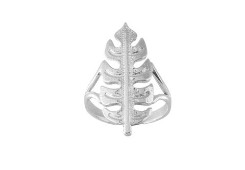 Silver Ring With Travellers Palm